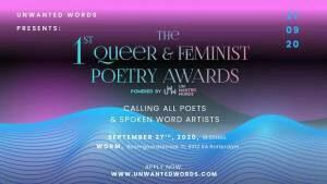 Deadline aanmelding Queer & Feminist Poetry Award