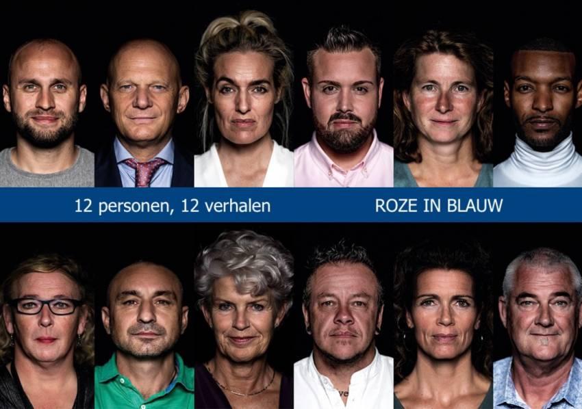 Expositie Roze in Blauw: 12 portretten, 12 verhalen.